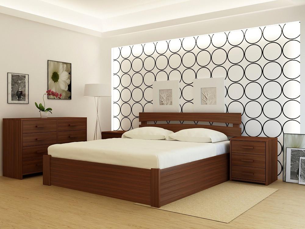 Кровать деревянная YASON Tokyo PLUS с подъемным механизмом (Массив Ольхи либо Ясеня)