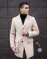 "Пальто мужское зима Pobedov  Winter Coat ""BATYA""  класика в бежевом цвете"
