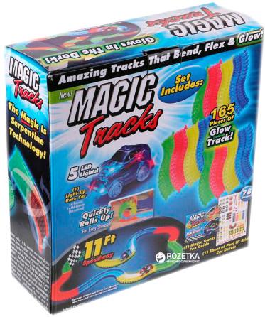 Автотрек конструктор трасса Magik Track 165 деталей. Детский трек с машинкой