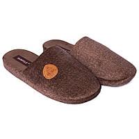 Мужские комнатные домашние тапочки Runpole 0390-001 коричневые