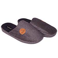 Мужские комнатные тапочки Runpole 0390-011 серый