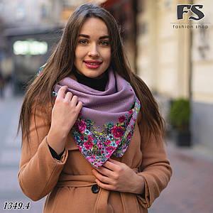 Женский шерстяной платок Цветочный Край