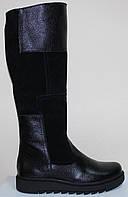 Сапоги зимние кожаные на низком ходу от производителя модель СА254, фото 1
