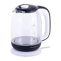 Чайник 1,7л электрический Kamille из боросиликатного стекла