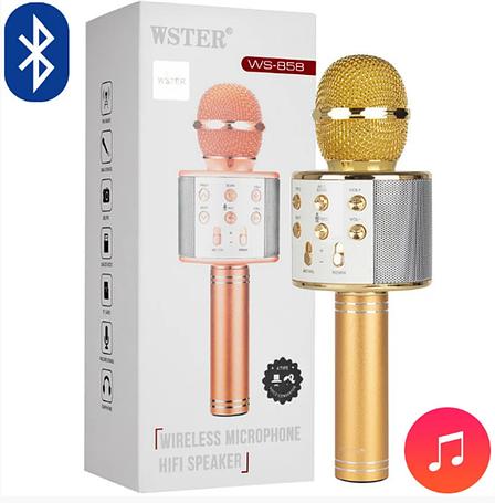 Караоке микрофон Bluetooth беспроводной WSTER 858 WS  все цвета   Original, фото 2