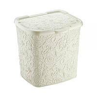 """Контейнер для стирального порошка """"Ажур"""" Elif Plastik, 20,5х23х23см, бежевий"""