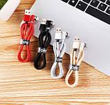 Магнітний кабель кутовий Lightning USB TOPK для iphone з підсвіткою і круглим конектором, фото 5