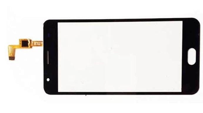 Oukitel K6000 Plus сенсорний екран, тачскрін чорний