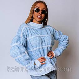 Женский свитер пряжа букле зефир (в расцветках)
