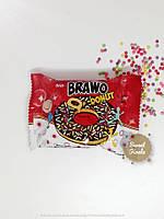 Донат Brawo с шоколадным кремом цветными гранулами