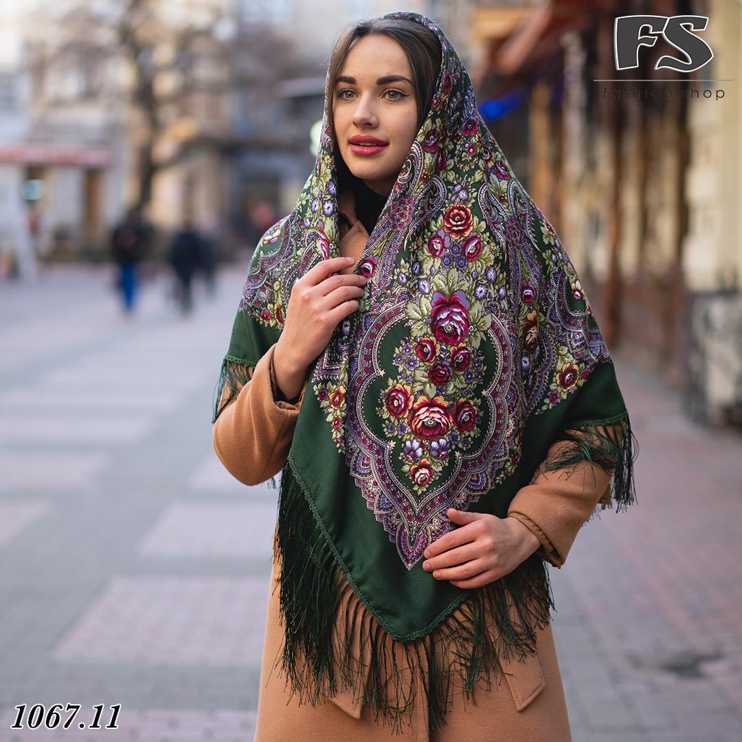 Павлопосадский платок Цветочное вдохновение