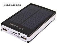 Мобильная солнечная зарядка Power Bank Solar 25000 mAh, зарядное устройство Павер Банк Солар 25000 мАч, фото 1