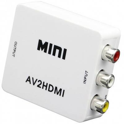 Конвертер відео сигналу адаптер з AV тюльпани RCA в HDMI1080P