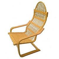 Кресло качалка плетеное пружинное из лозы и бука