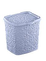 "Контейнер для стирального порошка ""Ажур"" Elif Plastik, 20,5х23х23см, голубой"