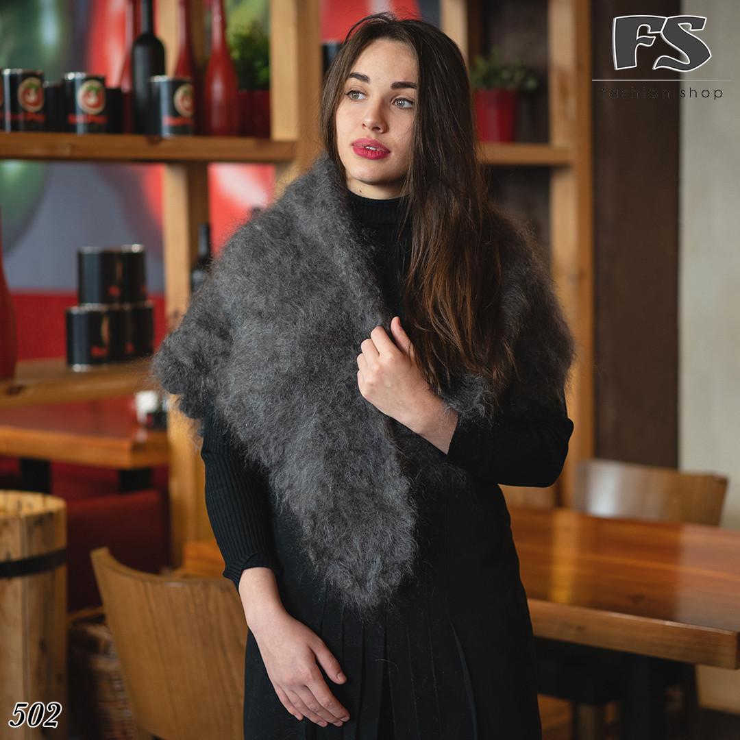 Оренбургский пуховый платок-косынка Беатриса 120х90см
