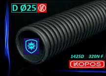 Труба гофрированная ультрастойкая D Ø 25 мм 1425D 320N F Kopos Kopoflex