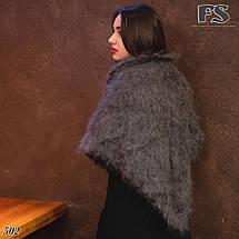 Оренбургский кудрявый пуховый платок-косынка Беатриса 120х90, фото 2