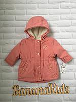 Зимняя куртка для девочки 6 мес., рост 63-69 см., Kiabi