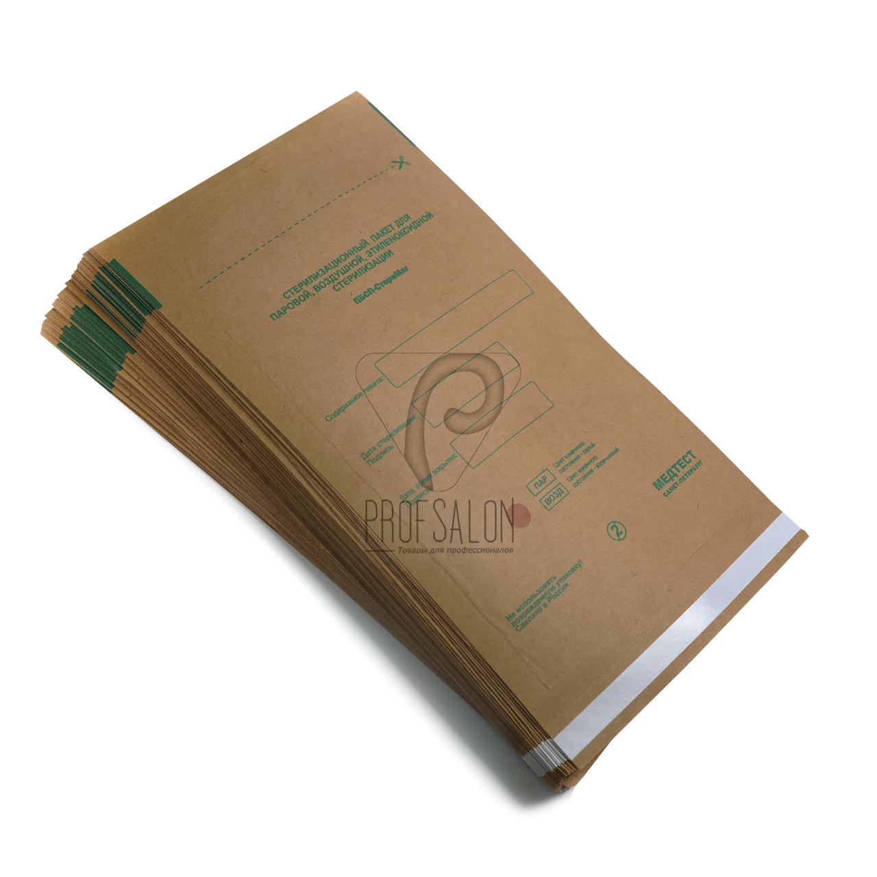 Крафт пакеты для стерилизации 150х300 Медтест, паровая, воздушная, этиленоксидная 100 шт