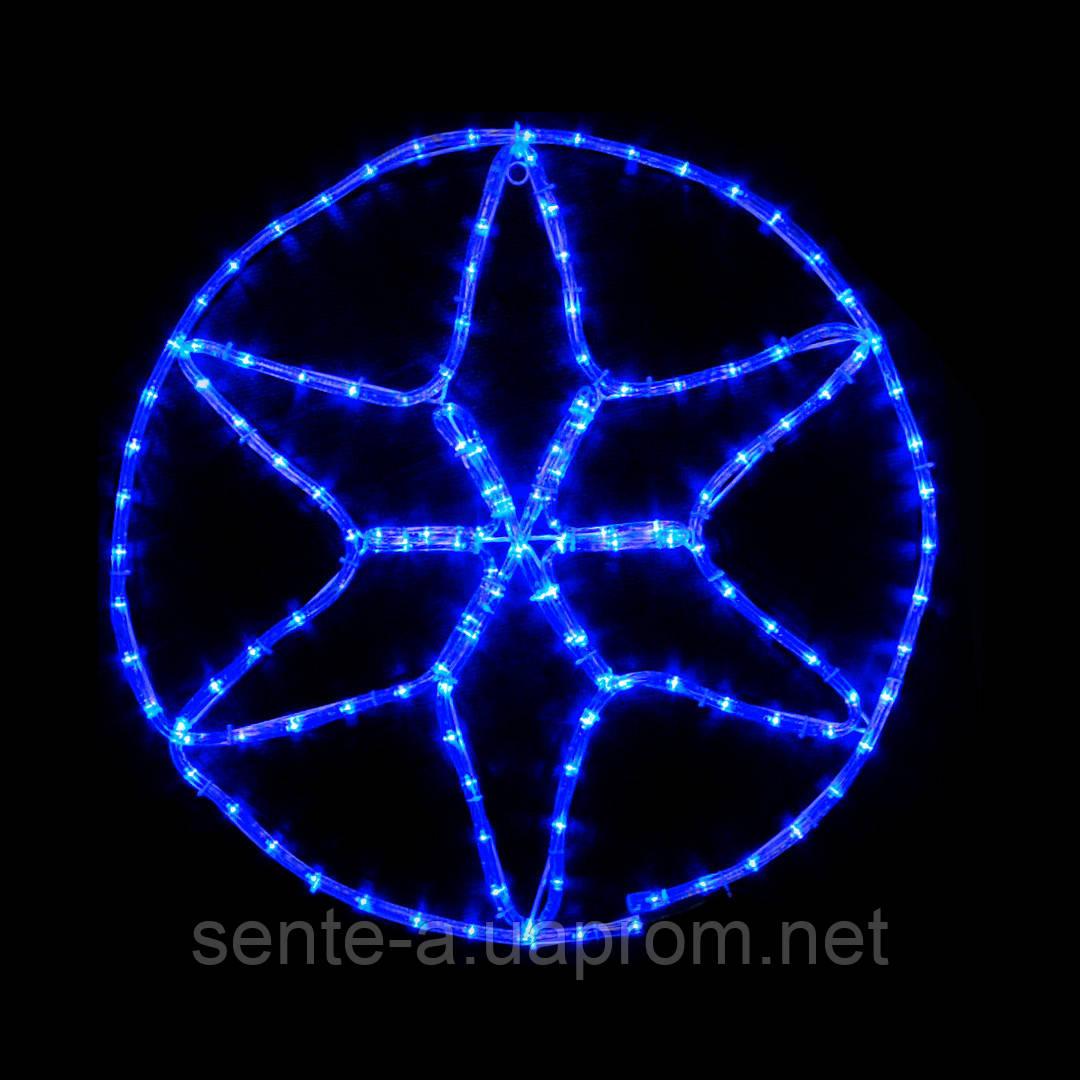 Гирлянда внешняя DELUX MOTIF Star 0,6*0,6м 13 flash синий IP 44
