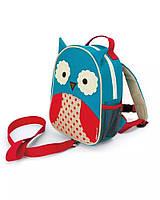 Детский рюкзак с ремнем безопасности Сова Отис Скип Хоп для малышей