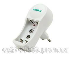 """Мережевий зарядний пристрій для батарейок """"Videx"""" VCH-N201 універсальний"""