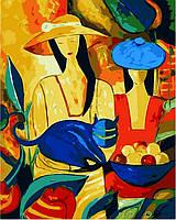 Раскраска по цифрам Дамы в шляпах и кот (VP416new) 40 х 50 см