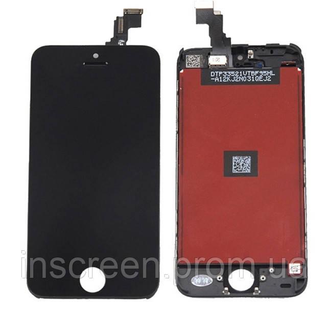 Экран (дисплей) Apple iPhone 5C с тачскрином (сенсором) черный, фото 2