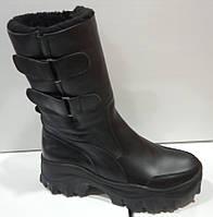 Сапоги молодежные зима из натуральной кожи на платформе от производителя модель КС26, фото 1