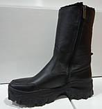 Сапоги молодежные зима из натуральной кожи на платформе от производителя модель КС26-4, фото 3