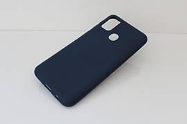 Чехол Soft Touch для Samsung Galaxy M30s (M307) силикон бампер темно-синий
