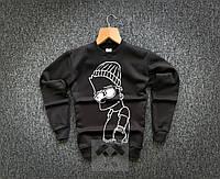 Свитшот мужской зимний Bart Simpson X black кофта ТОП качество, фото 1