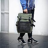 Вместительный мужской рюкзак, повседневный, городской, для ноутбука 15,6, спортивный хаки, фото 2
