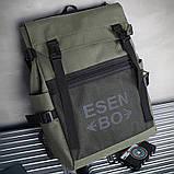 Вместительный мужской рюкзак, повседневный, городской, для ноутбука 15,6, спортивный хаки, фото 4