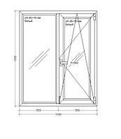 Окно металлопластиковое  Veka WHS HALO - 60, 5-этажка  1100х1350 мм