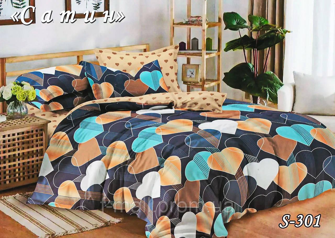 Комплект постельного белья Тет-А-Тет ( Украина ) Сатин евро (S-301)