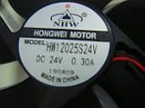 Вентилятор HONGWEI MOTOR 120x120mm 24v 0.3А для сканнеров, голов, усилителей, фото 3