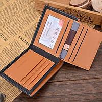 Чоловічий шкіряний гаманець. Чоловіче портмоне Модель В2, фото 5