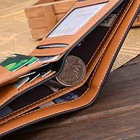Чоловічий шкіряний гаманець. Чоловіче портмоне Модель В2, фото 4