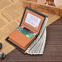 Чоловічий шкіряний гаманець. Чоловіче портмоне Модель В2, фото 6