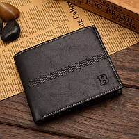 Чоловічий шкіряний гаманець. Чоловіче портмоне Модель В2, фото 2