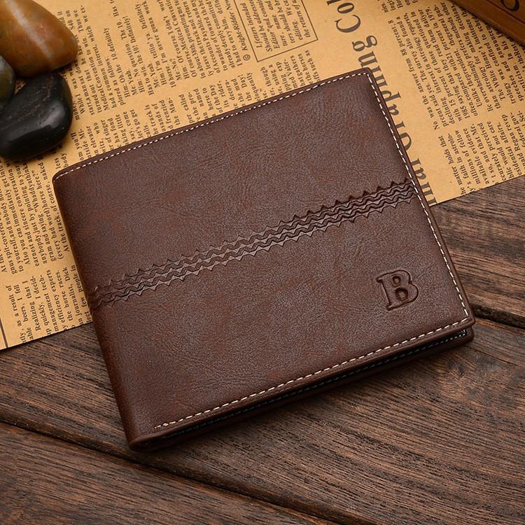 Чоловічий шкіряний гаманець. Чоловіче портмоне Модель В2