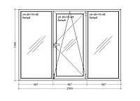 """Окно металлопластиковое  Veka WHS HALO - 60, 9-этажка """"Польская""""  2060х1440 мммм"""