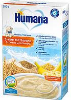 Humana Каша молочная 5 злаков с бананом 6м+ 200г