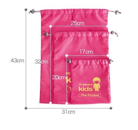 Набор детских мешочков M Square для белья - размеры