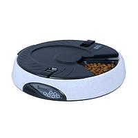 Кормушка для здорового питания с 6 лотками 2 л Серая (1010) КОД: 1010