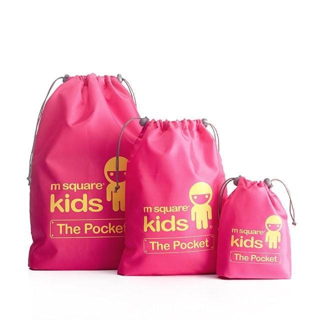 Набор детских мешочков M Square для белья розовый