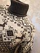 Вязаный свитер c оленями на мальчиков 158,164,170,176 роста Бегущие олени белый, фото 4