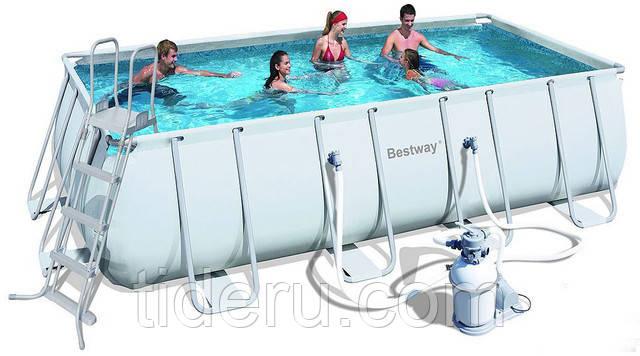 Купить Бассейн каркасный Bestway 56251  прямоугольный 404-201-100см с фильтр-насосом на 2 006 л/ч